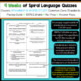 7th Grade Language Homework or Spiral Review Warm Ups & Be