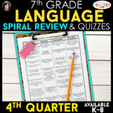 7th Grade Language Spiral Review | 7th Grade Grammar Practice | 4th Quarter