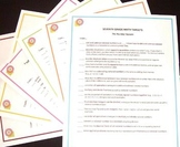 Seventh Grade Math Core Posters-Set of Six - With Free Checklists