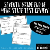 Seventh Grade Math End of Year State Test Review