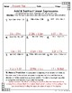 Seventh Grade Math Homework Sheets- Expressions and Equations