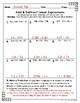 Seventh Grade Math Homework Sheets- Expressions and Equations