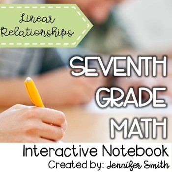 Multiple representations of linear relationships teaching resources seventh grade math linear relationships interactive notebook unit seventh grade math linear relationships interactive notebook unit sciox Images