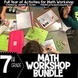 Seventh Grade Math Workshop Concept Based Activities Bundl