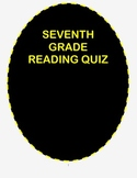 Seventh Grade by Gary Soto- Reading Comprehension Quiz with Ans Keys