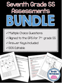 Seventh Grade Social Studies Assessment Pack ~ Editable