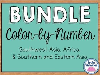 Seventh Grade Social Studies Color-By-Number BUNDLE
