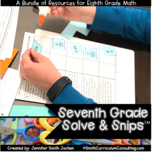 Seventh Grade Solve and Snips® Bundle - Interactive Math W