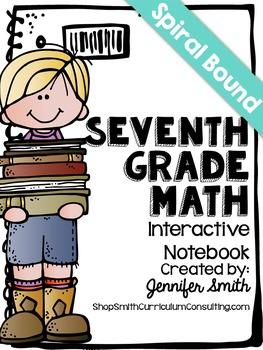 Seventh Grade Spiral Bound Full Year Interactive Notebook