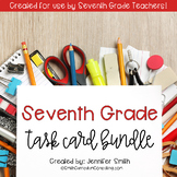 Seventh Grade Task Card Bundle of Resources for Interactiv