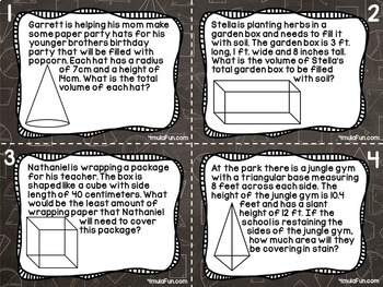 Seventh Grade Task Card Bundle of Resources for Interactive Learning