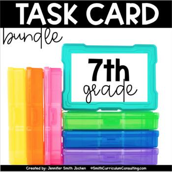 Seventh Grade Math Task Card Bundle