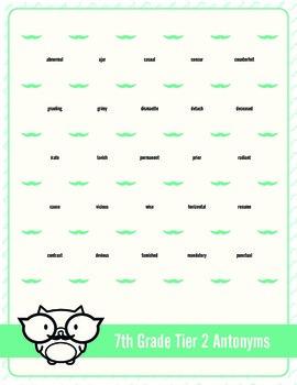 Seventh Grade Tier 2 Mustache Dots