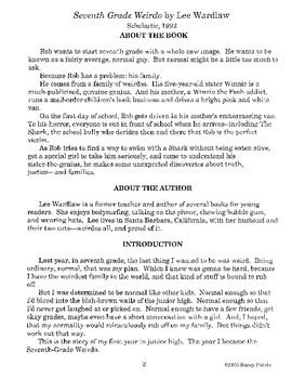 Seventh Grade Weirdo Literature Guide