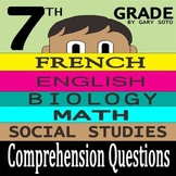 """Seventh Grade"" by Gary Soto - 10 Comprehension Questions with Key"