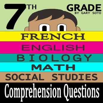 """""""Seventh Grade"""" by Gary Soto - 10 Comprehension Questions with Key"""