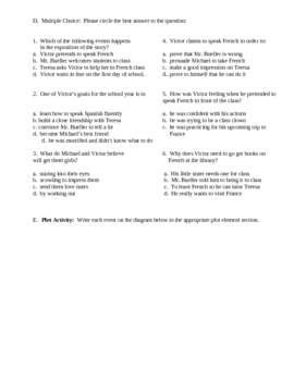 Seventh Grade by Gary Soto - Final Test, Vocab ...