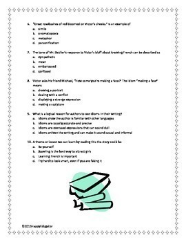 Seventh Grade by Gary Soto Multiple Choice Test