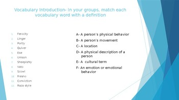 Seventh Grade by Gary Soto Vocabulary Activities