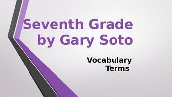 Seventh Grade by Gary Soto Vocabulary PPT