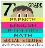 Seventh Grade by Gary Soto - Vocabulary Practice: Context Clues