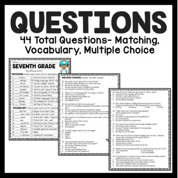 Seventh Grade by Gary Soto reading comprehension questions