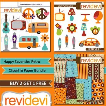 Seventies Retro (3 packs) hippies, furniture, decor, trailer