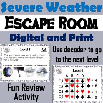 Severe Weather Escape Room - Science