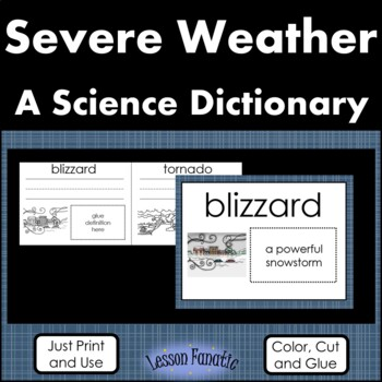 Severe Weather Color, Cut, and Glue Dictionary