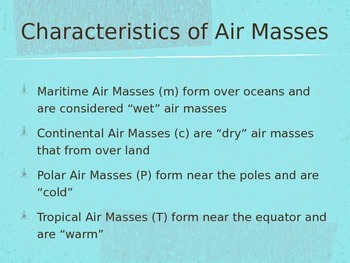 Severe Weather, Fronts, and Air Masses