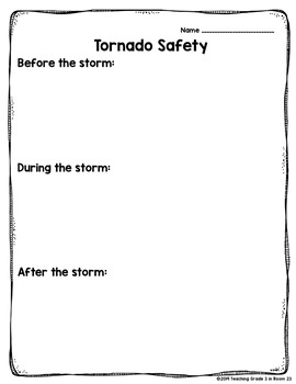 Severe Weather Graphic Organizers & Writing Sheets