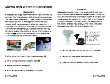 Storms and Weather Conditions Interactive Notebook
