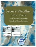 Severe Weather Montessori 3-Part Cards