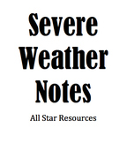 Severe Weather Notes for Excel and Numbers