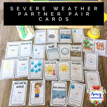 Severe Weather Partner Pair Cards with Engagement Questions
