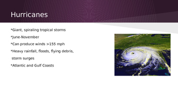 Severe Weather Powerpoint & Learning Centers