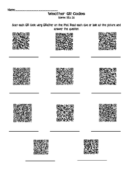 Severe Weather QR Clues