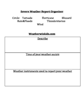 Severe Weather Report Organizer