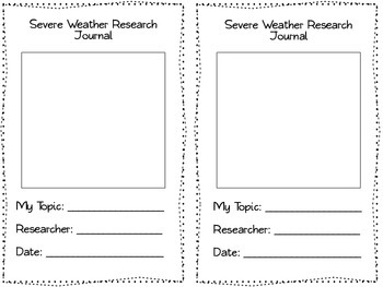 Severe Weather Research Log