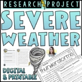 Severe Weather Research Project   Google Slides Distance Learning