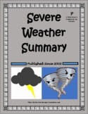 Severe Weather Summary Matching Activity
