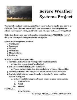 Severe Weather Systems project Presentation