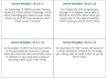Severe Weather Task Cards - W.2.3