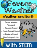 Severe Weather Webquest Research Project with STEM