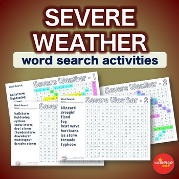 Severe Weather * WordSearch * Vocabulary * Warm Up * Bell Ringer