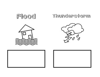 Severe Weather cut and paste booklet Science SOL 2.6