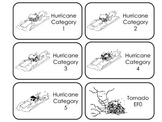 Severe Weather printable Flash Cards. Preschool weather and weather types.