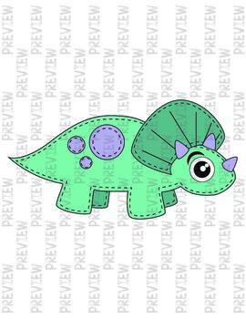 Sew Cute Dinosaur Clipart