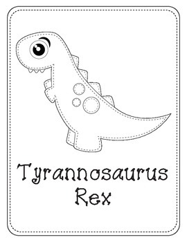Sew Cute Dinosaur Themed Coloring Pages