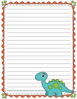 Sew Cute Dinosaur Themed Writing Papers